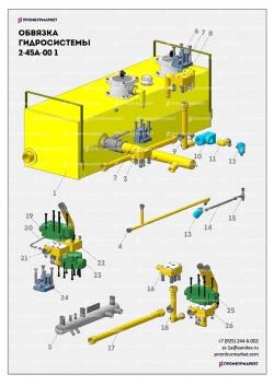 Обвязка гидросистемы УРБ 2А2